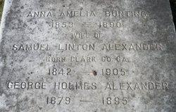 Anna Amelia <I>Bunting</I> Alexander