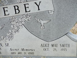 Alice Mae <I>Smith</I> Ebey