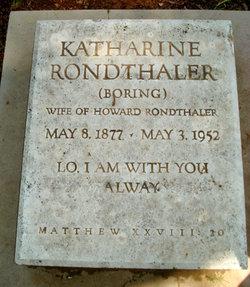 Katherine <I>Boring</I> Rondthaler