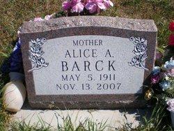 Alice A <I>Eckman</I> Barack