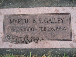 Myrtie Belle <I>Strong</I> Gailey