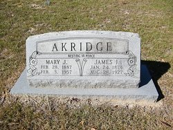 Mary Jane <I>Hooper</I> Akridge