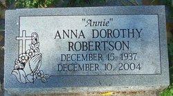 """Anna Dorothy """"Annie"""" <I>Stevens</I> Robertson"""