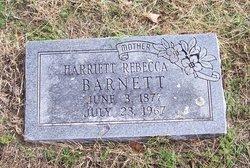"Harriett Rebecca ""Hattie"" <I>Hancock</I> Barnett"