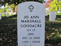 Lieut Jo Ann <I>Marshall</I> Goodacre