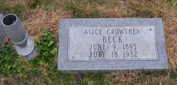 Alice Dorothy <I>Crowther</I> Beck
