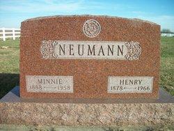 """Wilhemina A """"Minnie"""" <I>Freimuth</I> Neumann"""