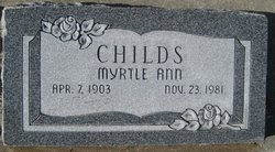 Myrtle Ann Childs