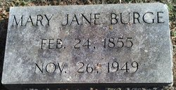 """Mary Jane """"Mae"""" <I>Hundley</I> Burge"""