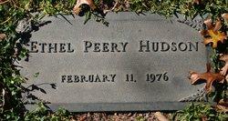 Ethel Anna <I>Peery</I> Hudson