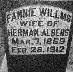 Fannie <I>Willms</I> Albers