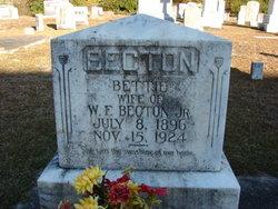 "Elizabeth ""Bettie"" <I>Ward</I> Becton"