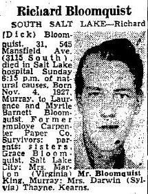 """Richard """"Dick"""" Bloomquist"""
