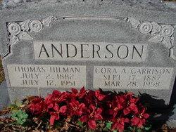 Cora A <I>Garrison</I> Anderson