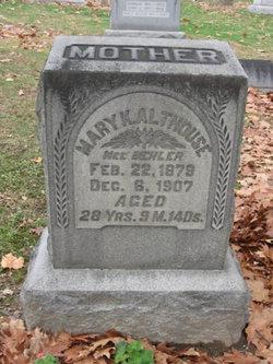 Mary K. <I>Behler</I> Althouse