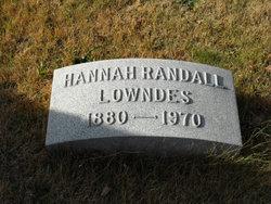 Hannah Parker <I>Randall</I> Lowndes