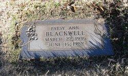 "Patsy Ada ""Patsy Ann"" <I>Ratliff</I> Blackwell"