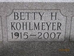 Betty Jane <I>Hartong</I> Kohlmeyer