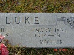 "Mary Jane ""Mollie"" <I>Hendley</I> Luke"