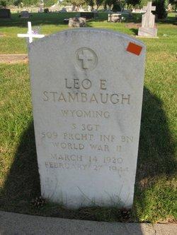 SSGT Leo E Stambaugh