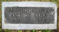 Sarah Elizabeth <I>Richards</I> Robinson
