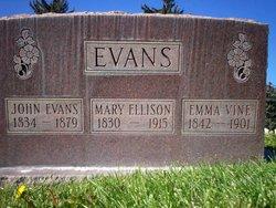 Emma <I>Vine</I> Evans