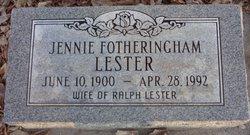 Jennie Fotheringham Lester