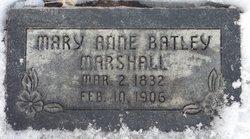 Mary Ann <I>Batley</I> Marshall