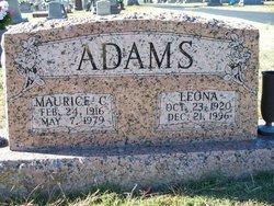 Leona <I>Wesley</I> Adams