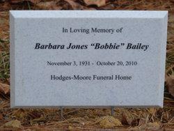 "Barbara ""Bobbie"" <I>Jones</I> Bailey"