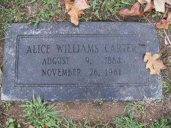 Alice <I>Williams</I> Carter