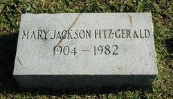 Mary <I>Jackson</I> Fitz-Gerald