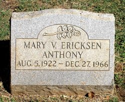 Mary V. <I>Ericksen</I> Anthony