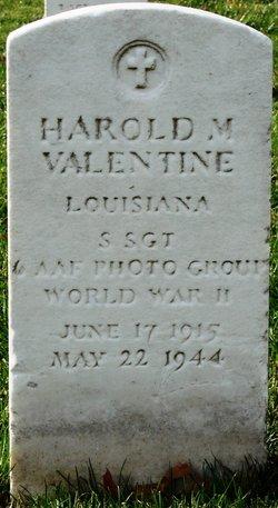 SSGT Harold M Valentine