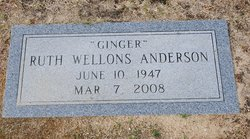 "Ruth ""Ginger"" <I>Wellons</I> Anderson"