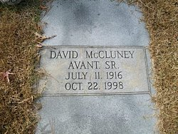 David McCluney Avant, Sr