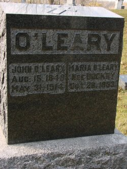 Maria <I>Dockery</I> O'Leary