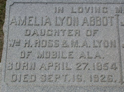 Amelia Lyon <I>Ross</I> Abbot