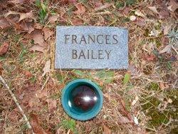 Frances <I>Rainwater</I> Bailey