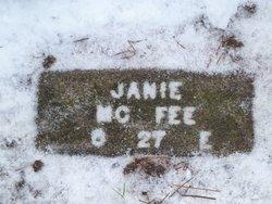 "Delila Jane ""Janie"" <I>Curtis</I> McFee"