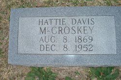 Hattie <I>Davis</I> McCroskey