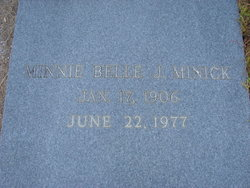Minnie Belle <I>Joiner</I> Minick
