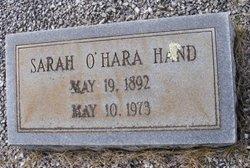 Sarah Martha <I>O'Hara</I> Hand