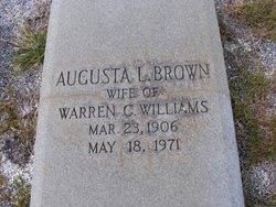 Augusta L. <I>Brown</I> Williams