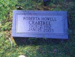 Roberta <I>Howell</I> Crabtree