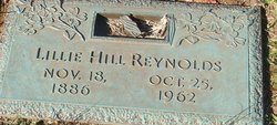 Lillie Bell <I>Hill</I> Reynolds