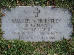 Walter A Priestley, Sr