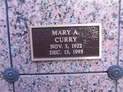 Mary Amelia <I>Greeson</I> Curry