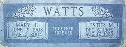 Mary E Watts
