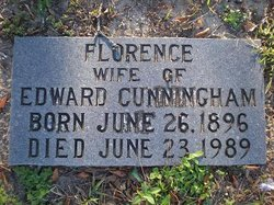 Florence <I>Woodard</I> Cunningham